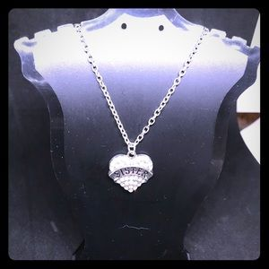 "Jewelry - NIP Silver ""Sister"" Necklace"